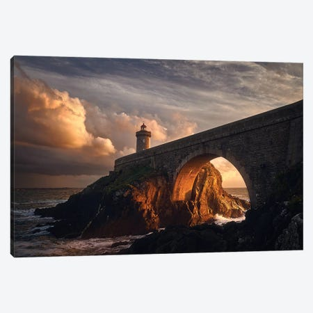 Under The Bridge Canvas Print #OXM2975} by Denis Art Print