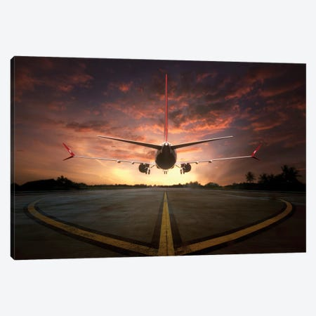 Chasing The Sunset Canvas Print #OXM2994} by Ganjar Rahayu Art Print