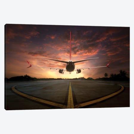 Chasing The Sunset Canvas Print #OXM2994} by Ganjar Rahayu Art Print