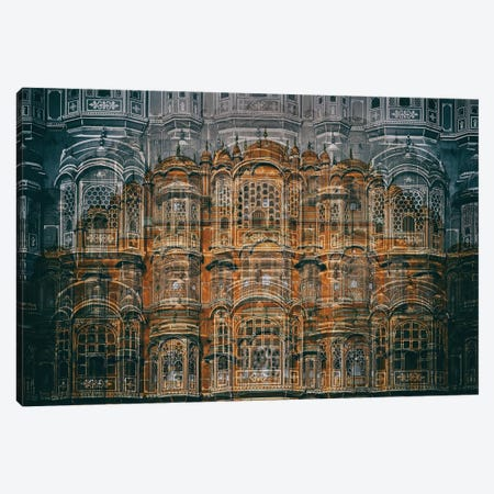 Hawa Mahal Canvas Print #OXM3016} by Hans-Wolfgang Hawerkamp Canvas Art Print