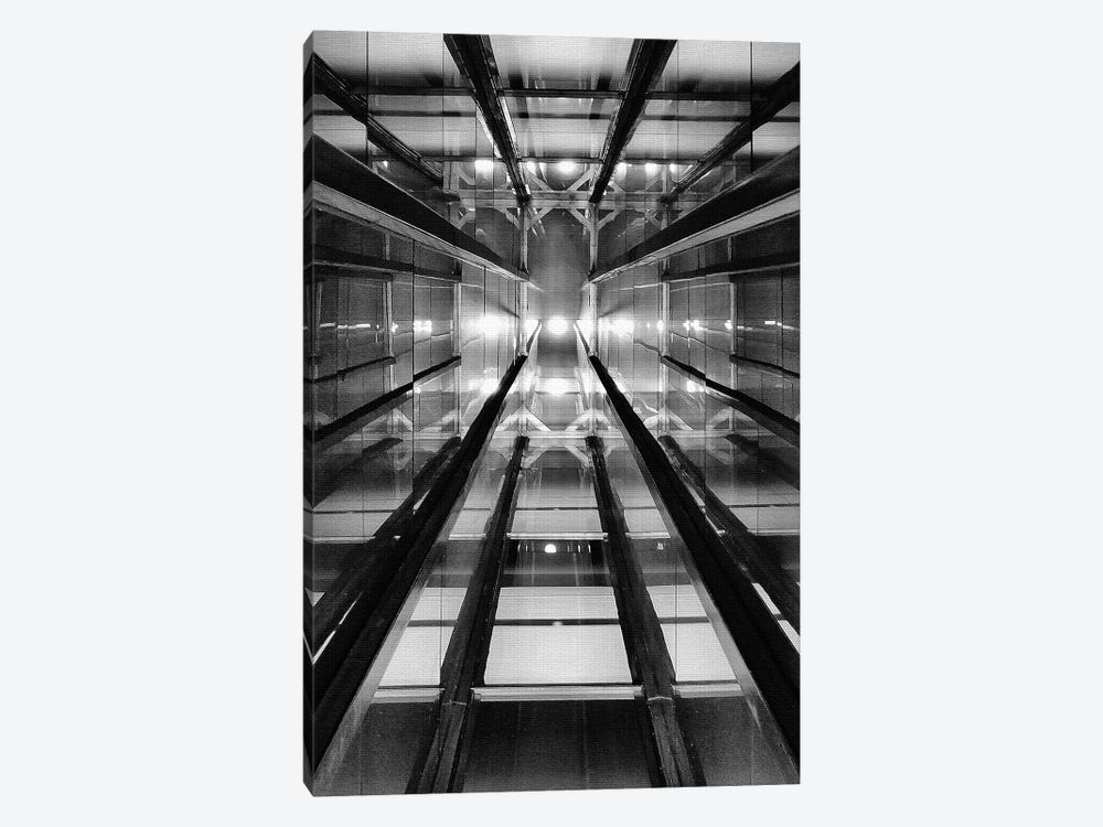 Elevator Shaft Casa Confetti by Henk van Maastricht 1-piece Canvas Art