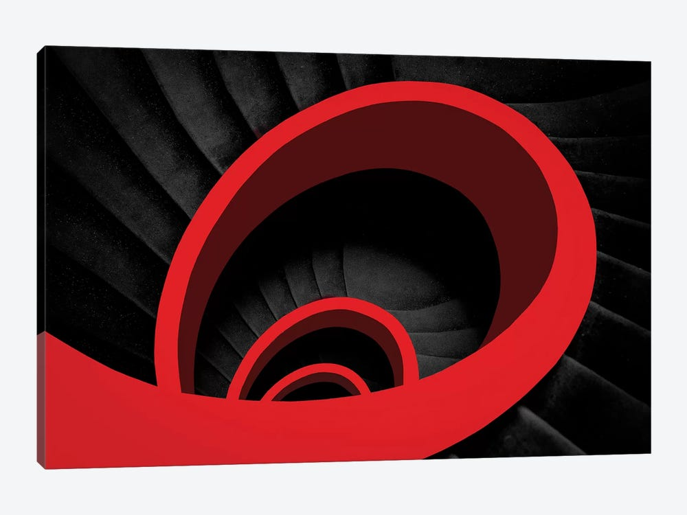 A Red Spiral by Inge Schuster 1-piece Canvas Art Print