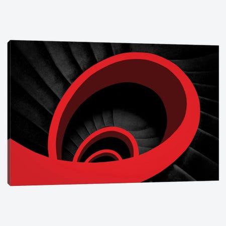 A Red Spiral Canvas Print #OXM3040} by Inge Schuster Art Print