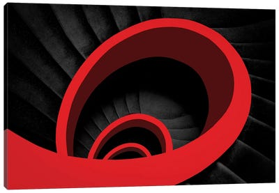 A Red Spiral Canvas Art Print
