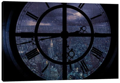 Gotham Viewed From Above Canvas Art Print