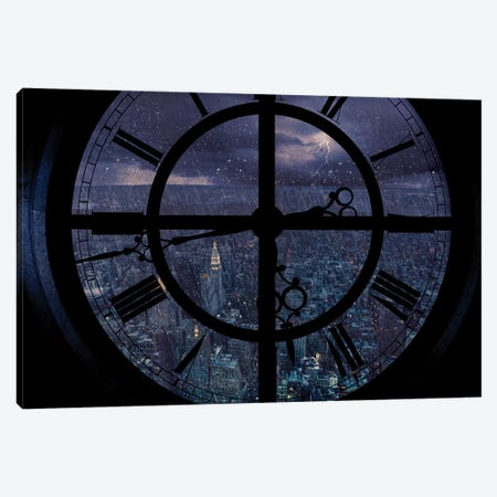 Gotham Viewed From Above Canvas Print #OXM3051} by Jackson Carvalho Canvas Artwork