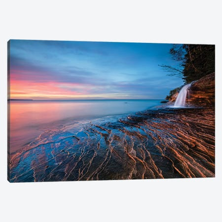 Symphony Of Sunset Canvas Print #OXM3072} by John Fan Canvas Wall Art