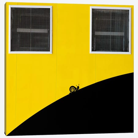 Un Caracol Aventurero Canvas Print #OXM309} by Paco Palazon Art Print