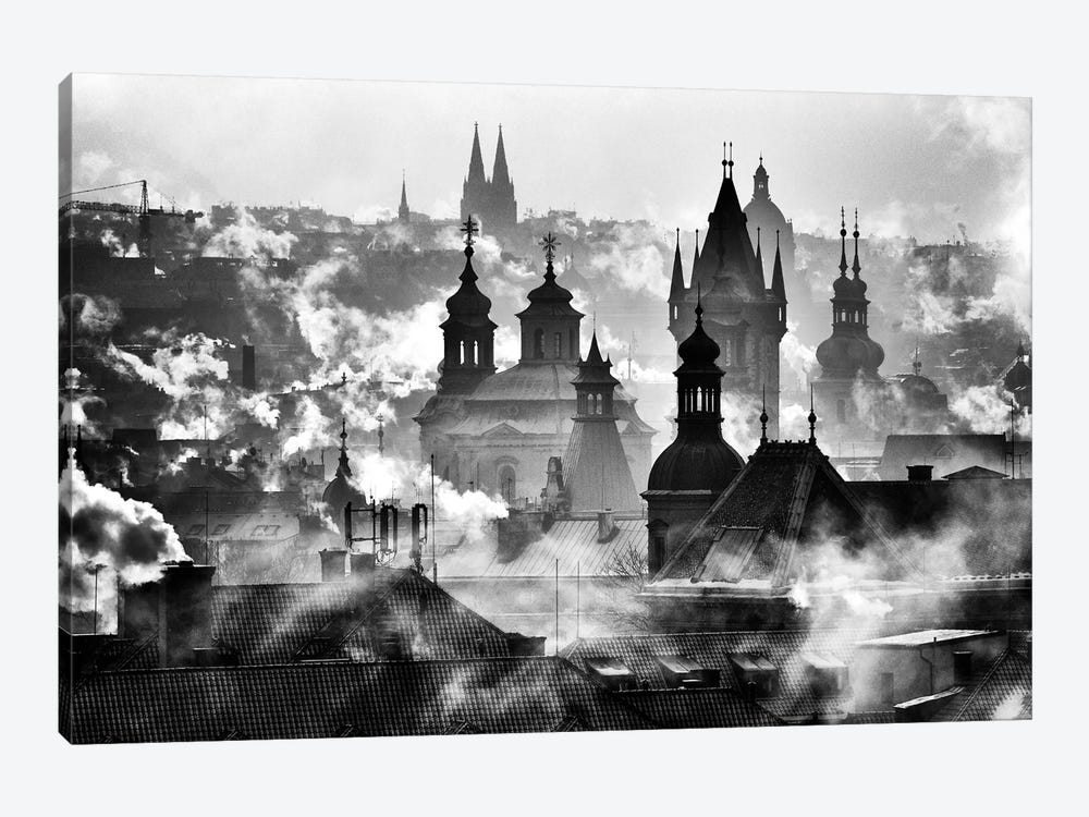 Prague Towers by Martin Froyda 1-piece Canvas Wall Art