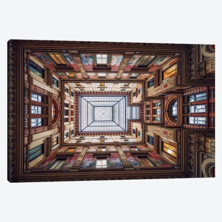 Galleria Sciarra, Rome Canvas Print #OXM3113} by Massimo Cuomo Canvas Print