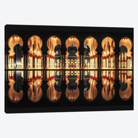 Reflections In The Mosque Canvas Print #OXM3116} by Massimo Cuomo Canvas Artwork