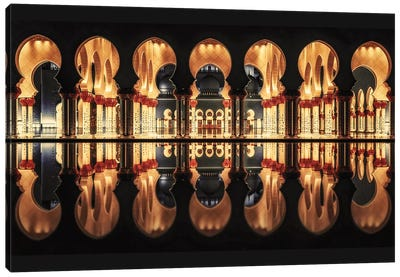 Reflections In The Mosque Canvas Art Print