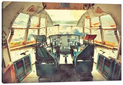 Flying Dead Plane Canvas Art Print