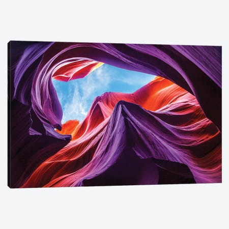 Magical Lower Antelope Canyon Canvas Print #OXM3139} by Nanouk el Gamal Art Print