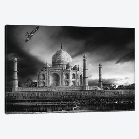 The Banks Of The Jamuna River 3-Piece Canvas #OXM3164} by Piet Flour Canvas Print