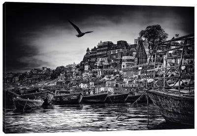 The Boats Of Varanasi Canvas Art Print