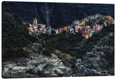 Village On The Rocks Canvas Art Print