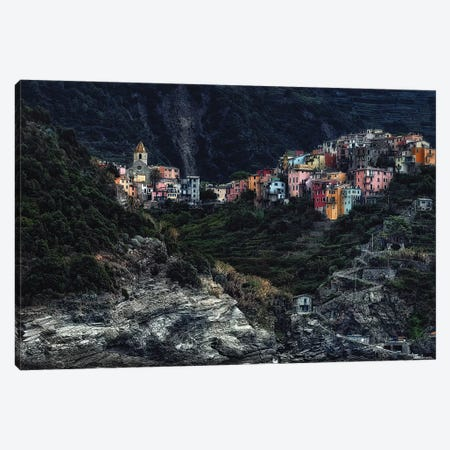 Village On The Rocks Canvas Print #OXM3166} by Piet Flour Canvas Print