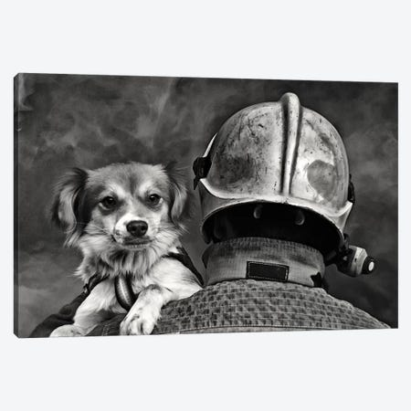 Dog's Best Friend Canvas Print #OXM3173} by Renato J. López Canvas Print