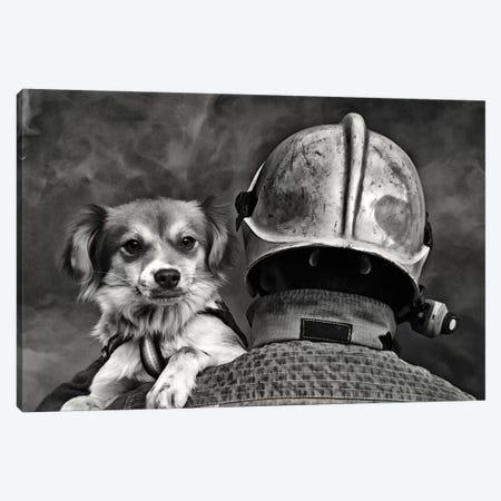 Dog's Best Friend Canvas Print #OXM3173} by Renato J. López Canvas Print