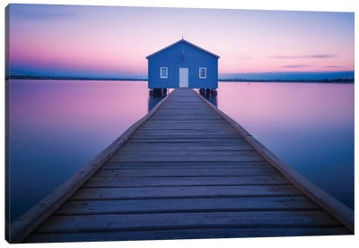Boathouse Canvas Art Print