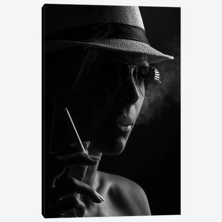 Smoker Canvas Print #OXM3191} by Shogun Art Print