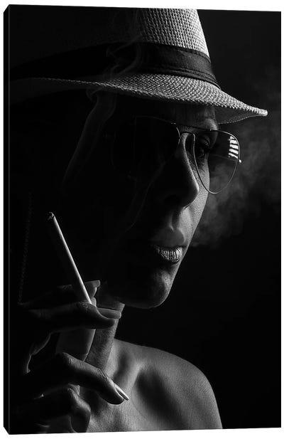 Smoker Canvas Art Print