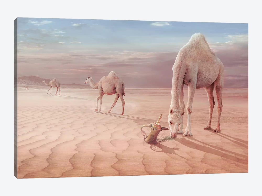 Camel's Trip by Sulaiman Almawash 1-piece Art Print
