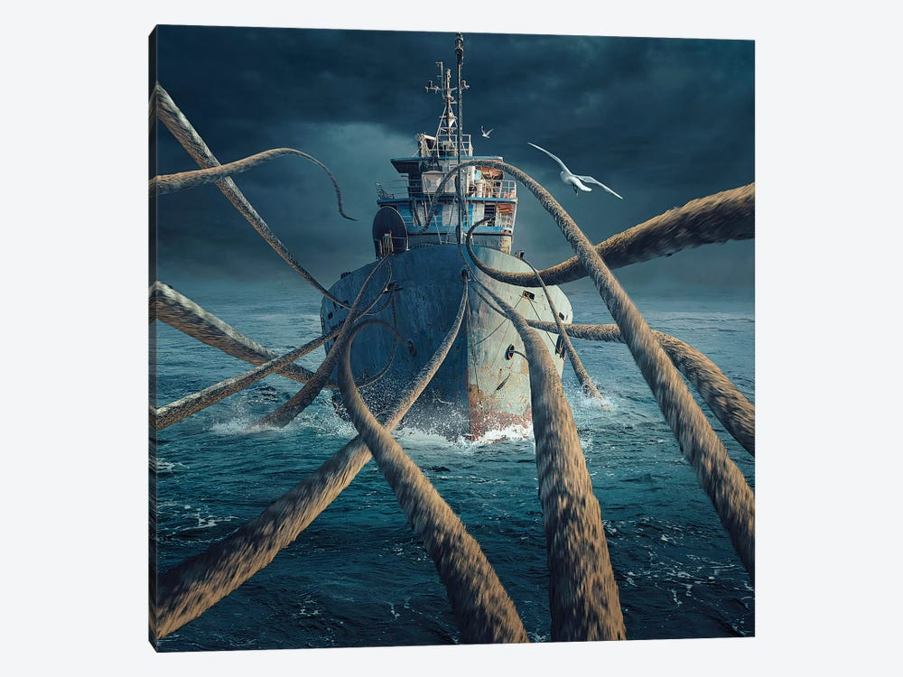 Caught The Ship by Sulaiman Almawash 1-piece Canvas Art