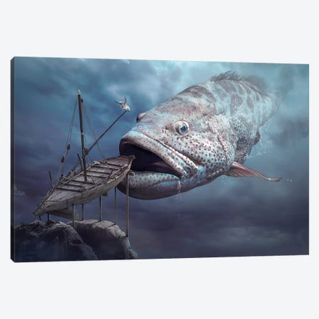 Ship Of Hope Canvas Print #OXM3202} by Sulaiman Almawash Canvas Print
