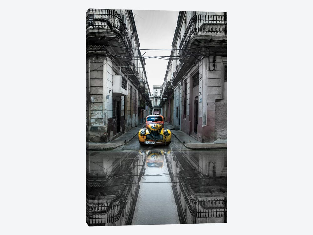 Classic Old Car In Havana, Cuba by Svetlin Yosifov 1-piece Canvas Art