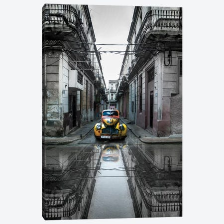 Classic Old Car In Havana, Cuba 3-Piece Canvas #OXM3211} by Svetlin Yosifov Canvas Artwork