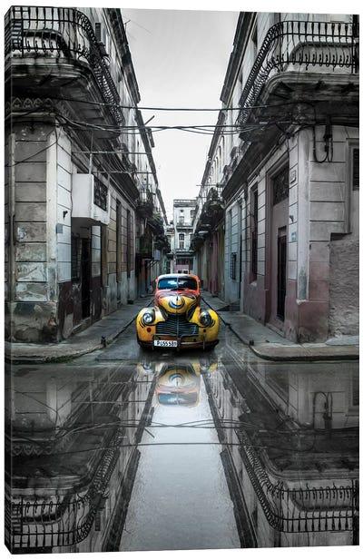 Classic Old Car In Havana, Cuba Canvas Art Print