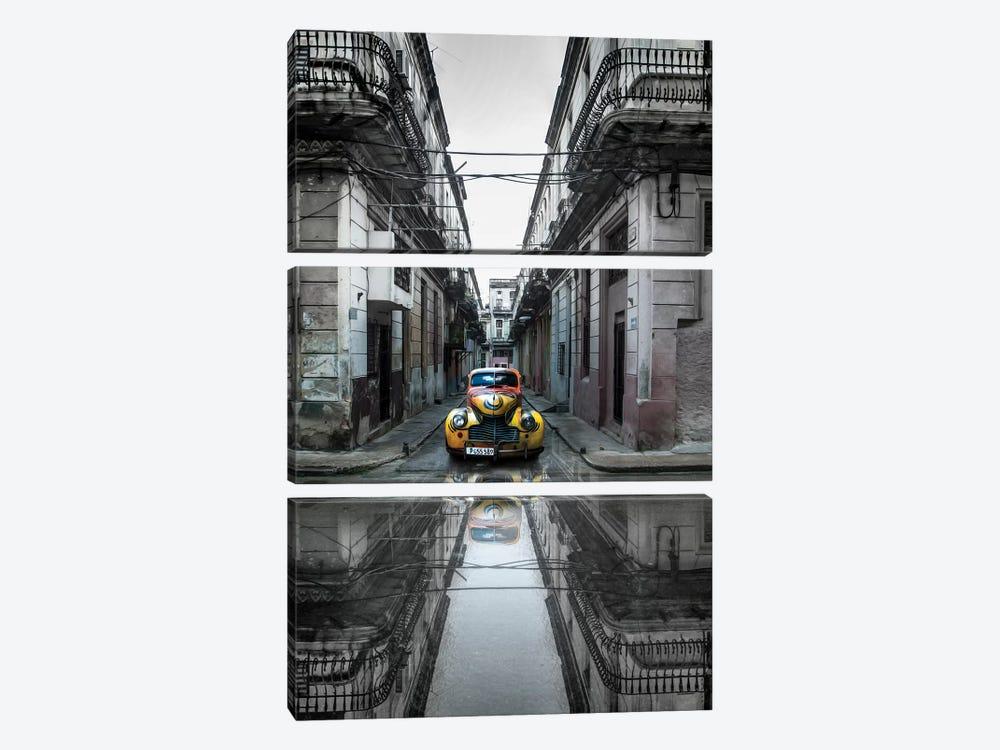 Classic Old Car In Havana, Cuba by Svetlin Yosifov 3-piece Canvas Art