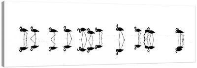 Flamingo Reflections Canvas Art Print