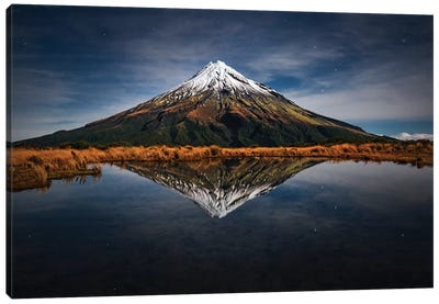 Mount Taranaki - A Starry Night Canvas Art Print
