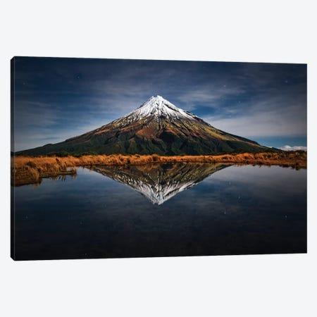 Mount Taranaki - A Starry Night Canvas Print #OXM3232} by Yan Zhang Canvas Artwork
