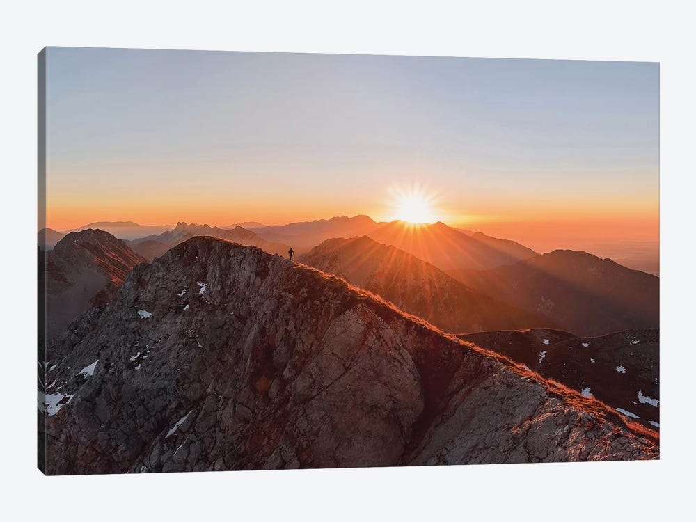 Running On The Ridge by Ales Krivec 1-piece Canvas Art Print