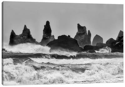 Stormy Beach Canvas Art Print