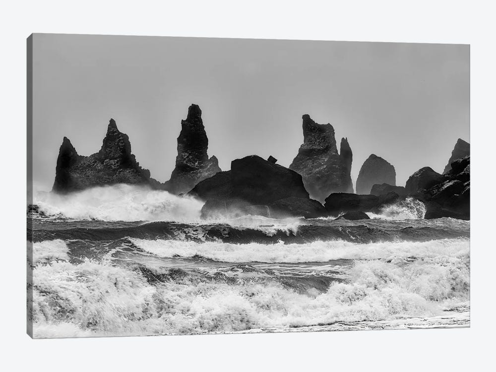 Stormy Beach by Alfred Forns 1-piece Canvas Print