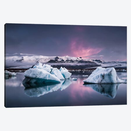 The Glacier Lagoon Canvas Print #OXM3289} by Andreas Wonisch Art Print