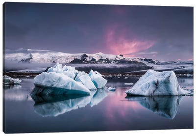 The Glacier Lagoon Canvas Art Print