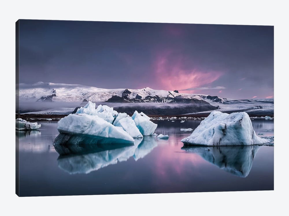 The Glacier Lagoon by Andreas Wonisch 1-piece Canvas Art Print
