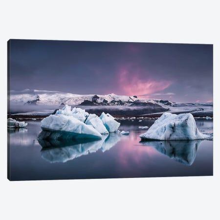 The Glacier Lagoon Canvas Print #OXM3289} by Andreas Wonisch Art Print
