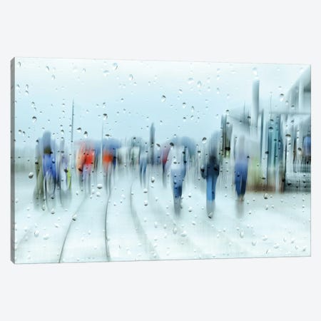It`s Raining Canvas Print #OXM3299} by Anette Ohlendorf Canvas Wall Art