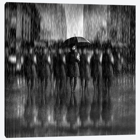 Girls In The Rain Canvas Print #OXM3313} by Antonyus Bunjamin Canvas Art Print