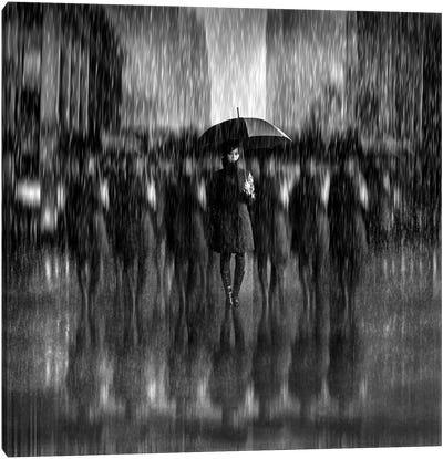Girls In The Rain Canvas Art Print