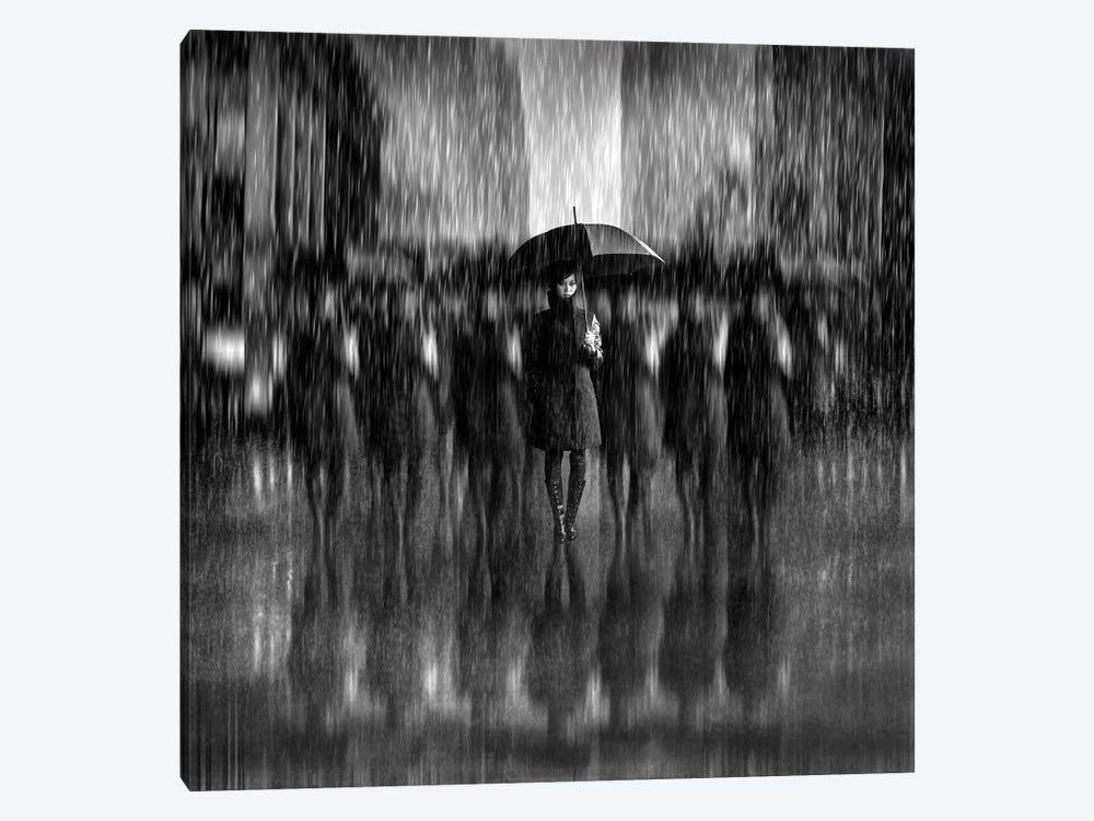 Girls In The Rain by Antonyus Bunjamin 1-piece Canvas Art Print