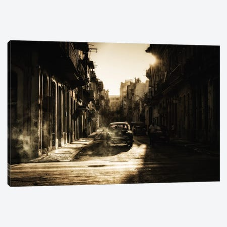Mystic Morning In Havana... Canvas Print #OXM3331} by Baris Akpinar Canvas Print