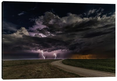 Prairie Lightning Canvas Art Print